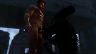 Alien Fucked by Big Dick Chris Redfield 3d gay games