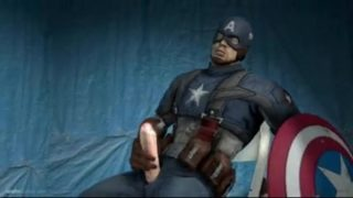 Captain America wanking his big dick 3d animation