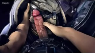 Mass Effect POV feeding cock to monsters and humans