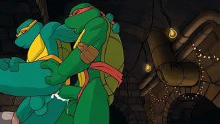 Ninja Turtles animation gay anal sex