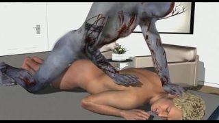 Zombie fucks blonde hunk while sleeping