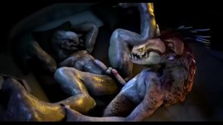 Gay Alien Porn hot threesome of different aliens fucking