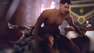 Dragon Age Gay Porn Iron Bull fucks Dorian's virgin asshole